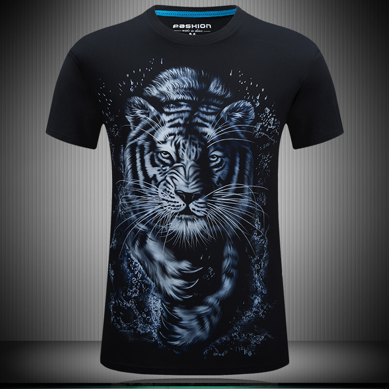 AIVENTO 3D Summer Printed T-shirts Men Cotton T shirt