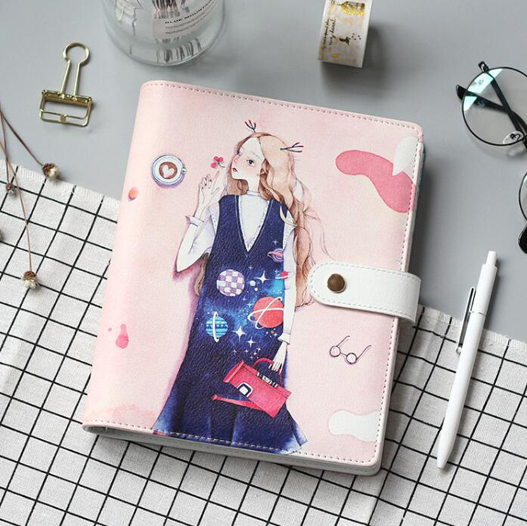 Notebooks Office & School Supplies Zuversichtlich A5 Sechs Loch Lose-blatt Notebook Imitation Leder Notizblock 80 Blatt Innere Seite Flamingo Mode Mädchen Hand Buch Papier Schreibwaren
