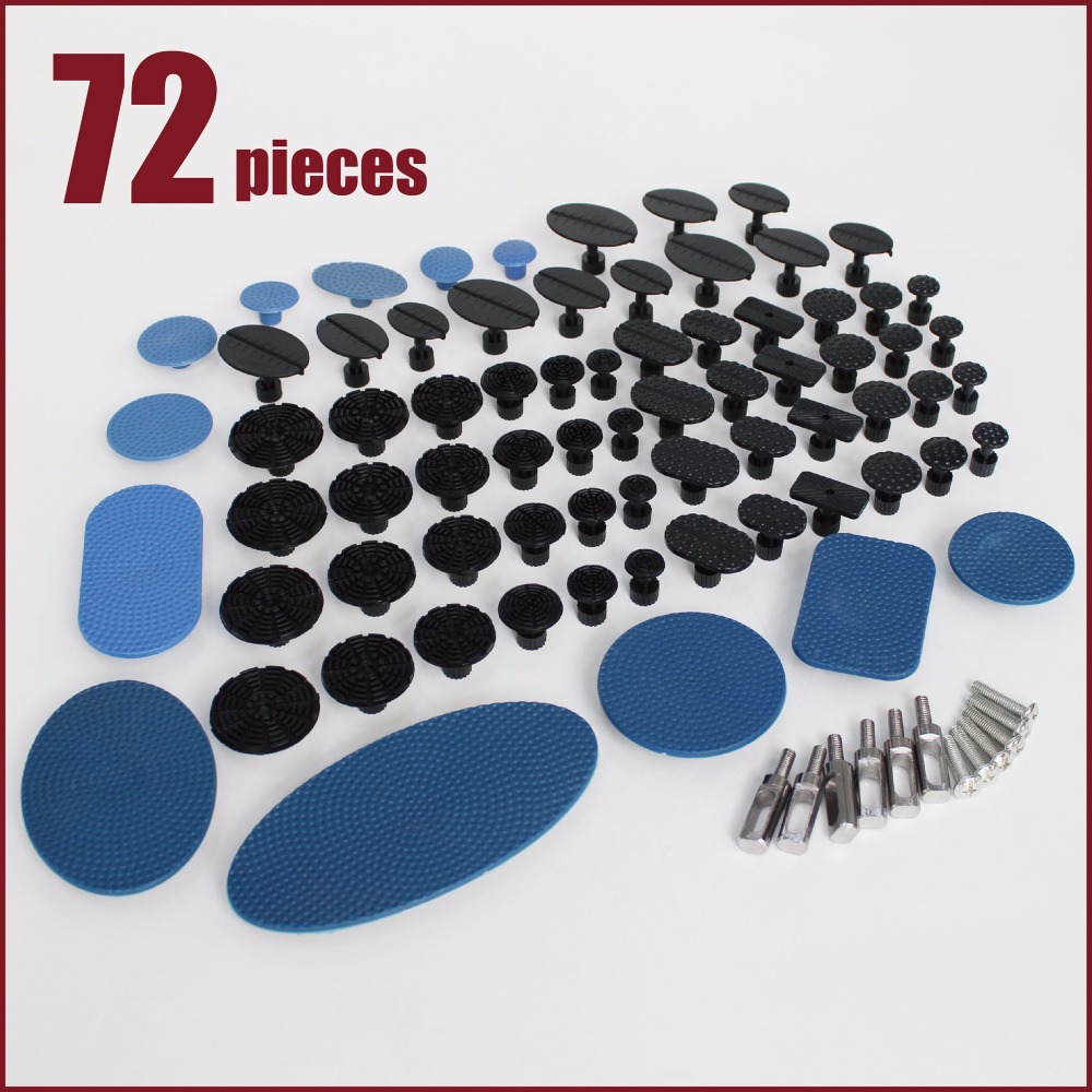 PDR Tools kit suction cup paintless dent repair puller removal glue pulling system tabs remove hail car ding sheet metal dents