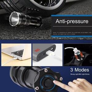 Image 3 - סופר מואר LED פנס XHP50 USB נטענת חזק Portabl אור LED זרקור פלאש אור מנורה על ידי 4*18650 סוללה