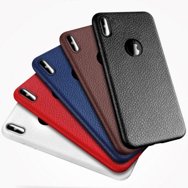 HOT! Phone Cases For Iphone x Case Luxury tpu Soft Matte leather dot Slim Protective Phone Back Cover For Iphone x Case Silicone(China)