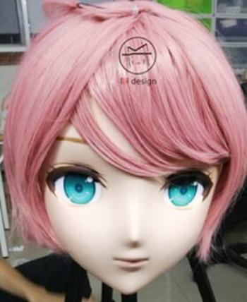 kig182 female/girl 3/4 Head Kigurumi Bjd Crossdress Cosplay Japanese Anime Role Guiltygear Lolita Mask Crossdresser Doll Aromatic Flavor Boys Costume Accessories