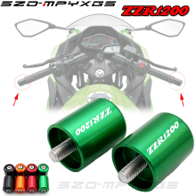 Motorcycle Accessories CNC Handlebar Grips Bar Ends Cap Slide For Kawasaki ZZR1200 ZZR 1200 2002-2005