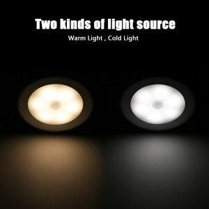 Image 3 - Настенный светильник с пассивным инфракрасным датчиком движения, 6 светодиодов, питание от батарейки, Индукционная лампа для чулана, коридора, Кабинета светодиодный сенсорный светодиодный светильник