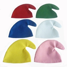 1Pcs Christmas Hat Elves Show Props for Adults Children Colorful Hats Halloween Party  Decoration