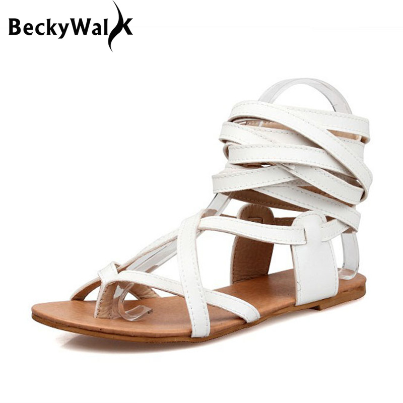 Solid Color Women Gladiator Sandals Flat Heels Summer Shoes Sexy Knee High Sandals Boots Woman Shoes Large Size EU34-43 WSH2032 развивающая игрушка fisher price гусеница с сюрпризом dhw14