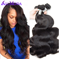 3PCS Malaysian Virgin Hair Body Wave 7A Ali Moda Malaysian Body Wave Hair Natural Black Unprocessed Human hair Extensions Best