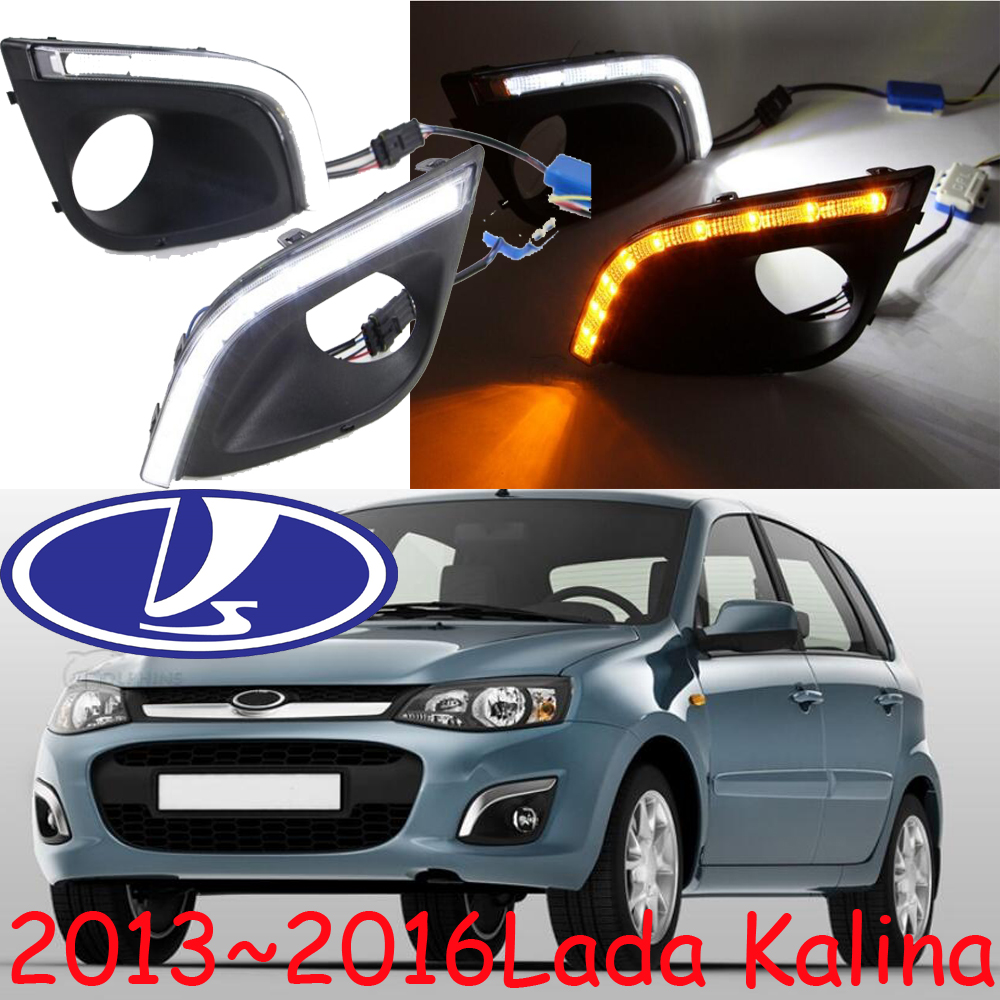 Car styling,LADA Kalina daytime light,2013~2016,chrome,LED,Free ship!2pcs,LADA Kalina fog light,car covers,Samara,Signet,Kalina