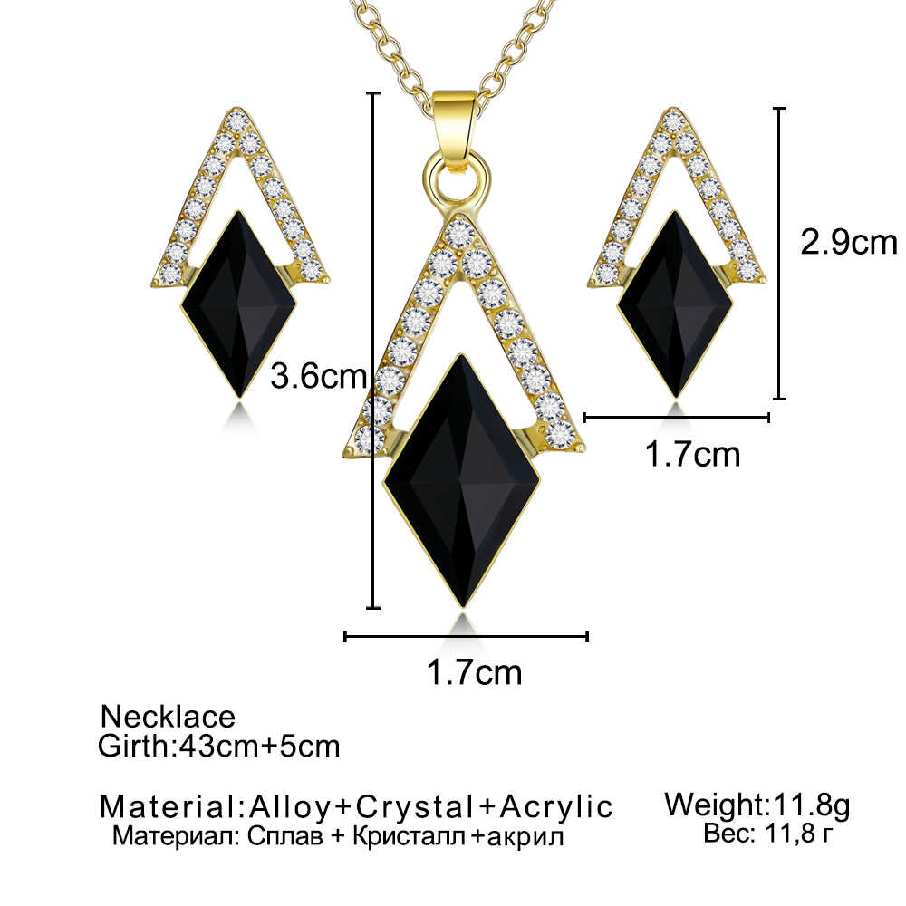 new rose gold Color simulated pearl jewelry Set for women fashion spheroid crystal leaf earrings NECKLACE PENDANT sets gift 2018
