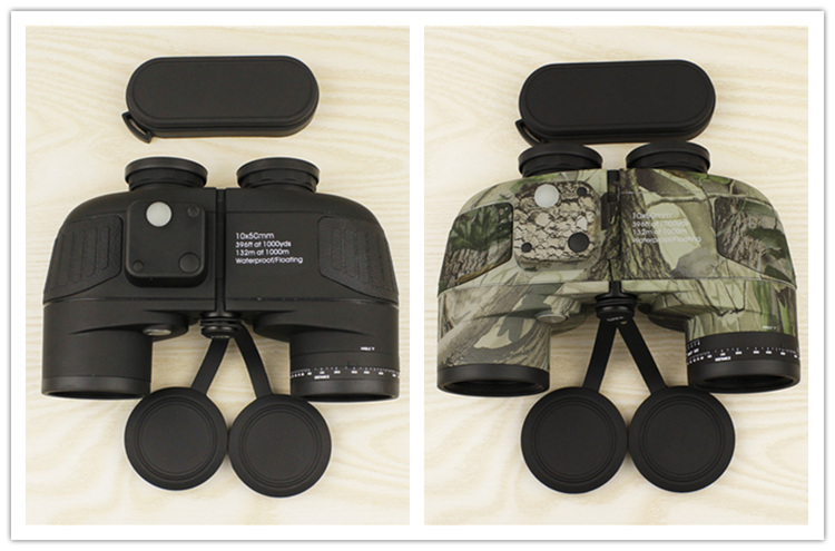 High quality 10x50 waterproof russian font b binoculars b font with digital compass Power LLL vision