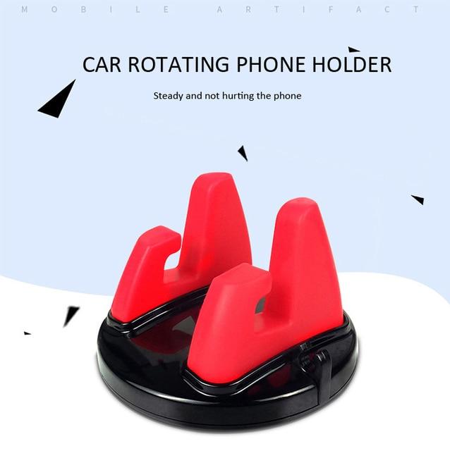 IKSNAIL 360 Degree Car Phone Holder Soft Silicone Anti Slip Mat Mobile Phone Mount Stands Support Car GPS Dashboard Bracket 1