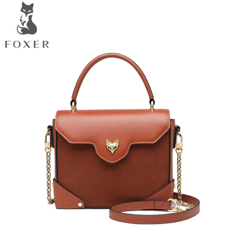FOXER bags for women 2019 new women leather bag fashion Retro cowhide handbags bags designer tote women leather shoulder bagFOXER bags for women 2019 new women leather bag fashion Retro cowhide handbags bags designer tote women leather shoulder bag