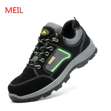 Wilderness Survival Work Safety Shoes Steel Toe Anti-slip Anti-smashing Men Boots for Man Sneakers
