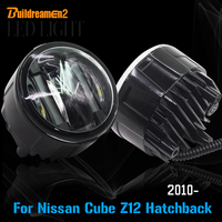 Buildreamen2 2 Pieces Car Light Source LED Fog Light Daytime Running Lamp DRL Styling For Nissan Cube Z12 Hatchback 2010 Up