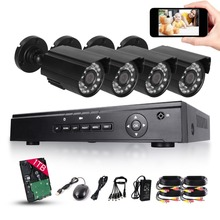 HD 4CH 720P CCTV Security System 4PCS 2000TVL IR Outdoor AHD 720P Video Surveillance Security Cameras 4 channel DVR Kit 1TB