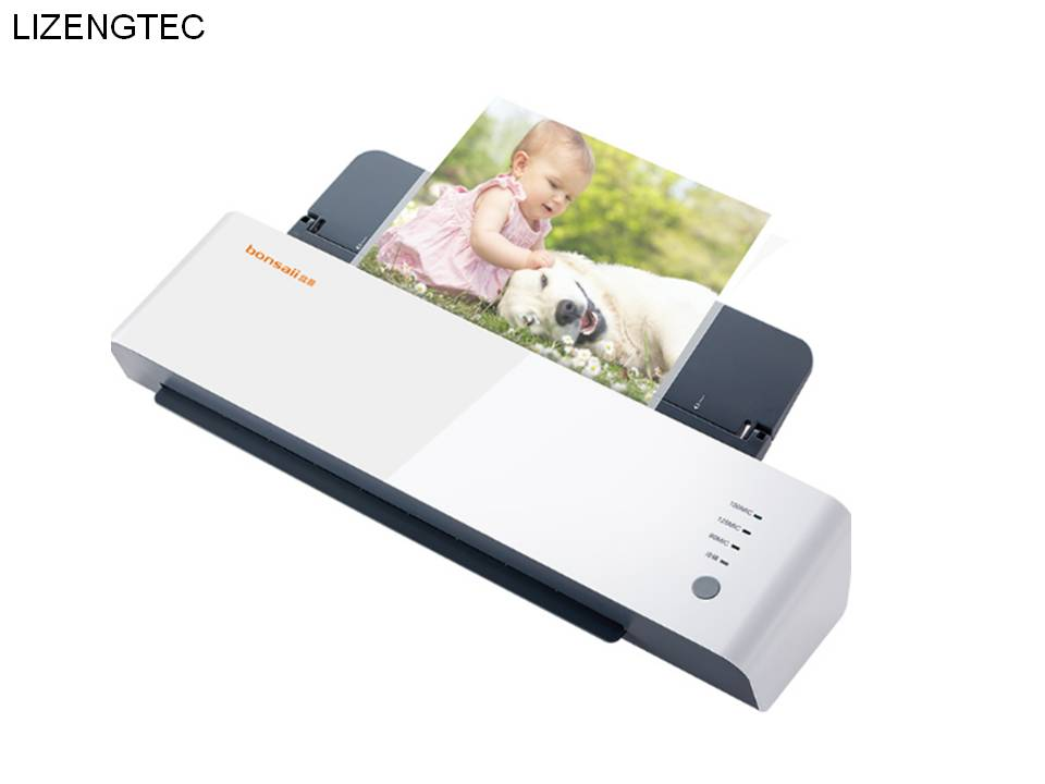 Free Shipping LIZENGTEC New Design Professional Office Hot and Cold Roll Laminator Machine for A3 A4