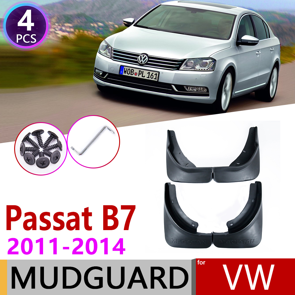 Front Rear Mudguard  For Volkswagen VW Passat B7 2011 2012 2013 2014 3C Fender Mudguard Mud Flaps Guard Splash Flap Accessories