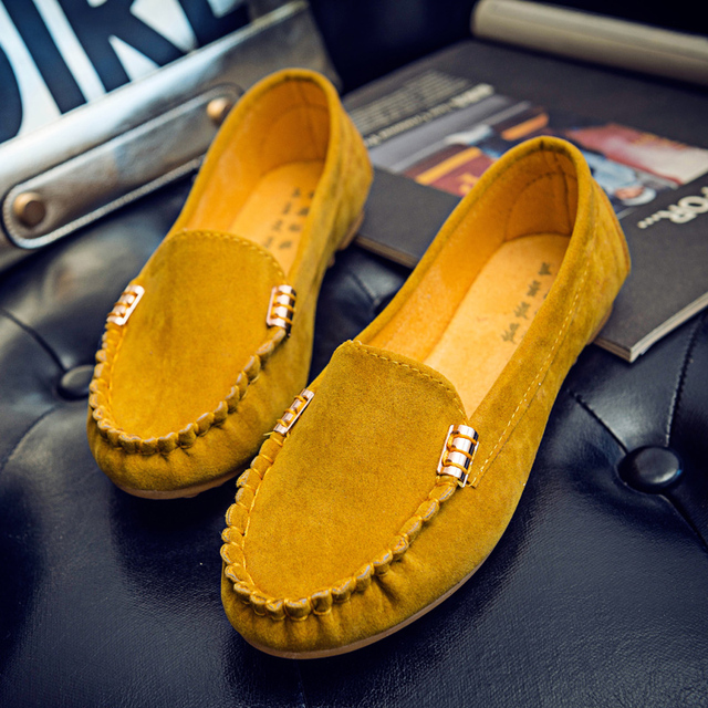 Plus Size 35-43 Women Flats shoes 2019 Loafers Candy Color Slip on Flat Shoes Ballet Flats Comfortable Ladies shoe zapatos mujer 3