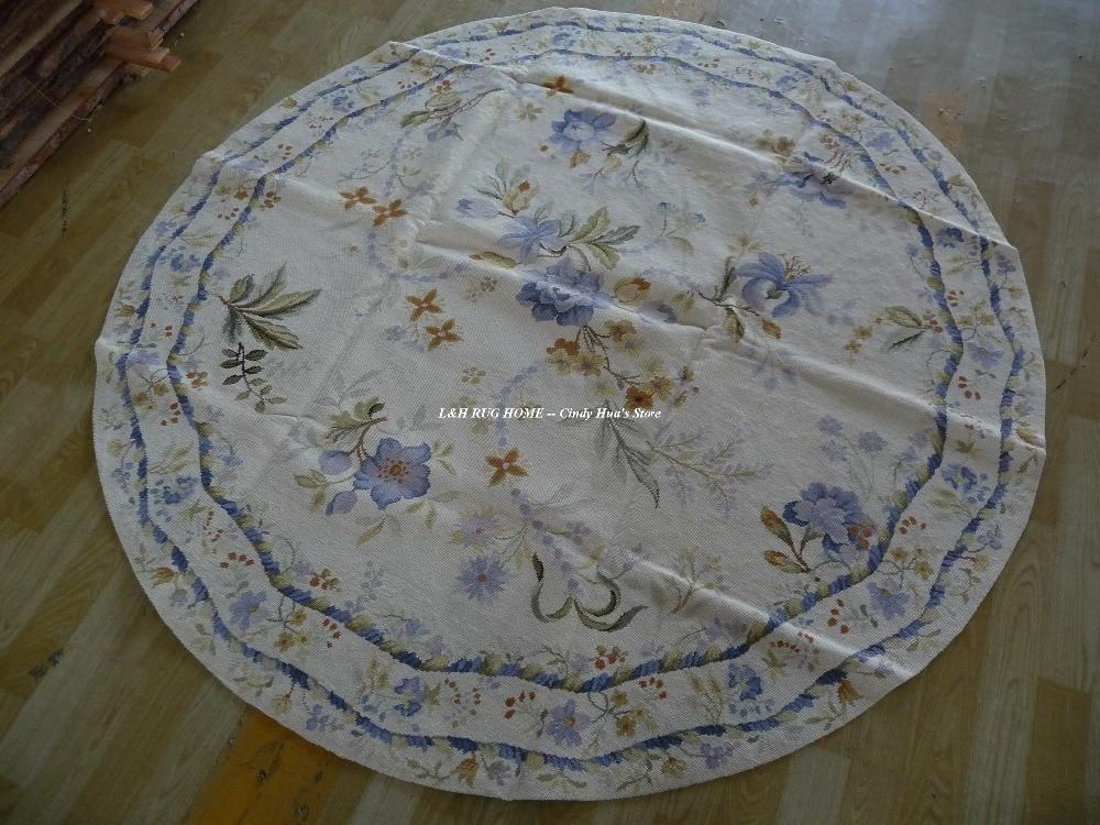 10K Круглий 6'x6 'Ручний зшитий килимками - Домашній текстиль