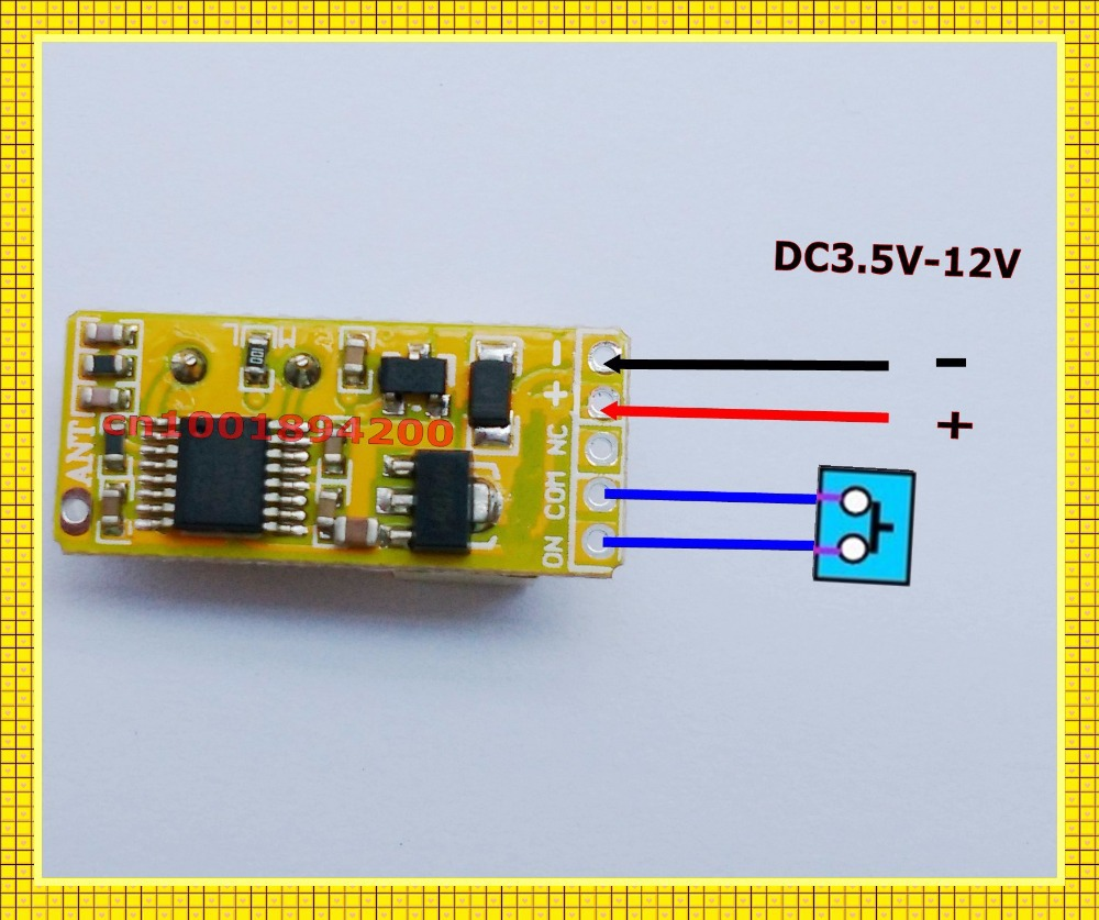 Circuito Aberto : Mini relé interruptor de controle remoto porta aberta botão do