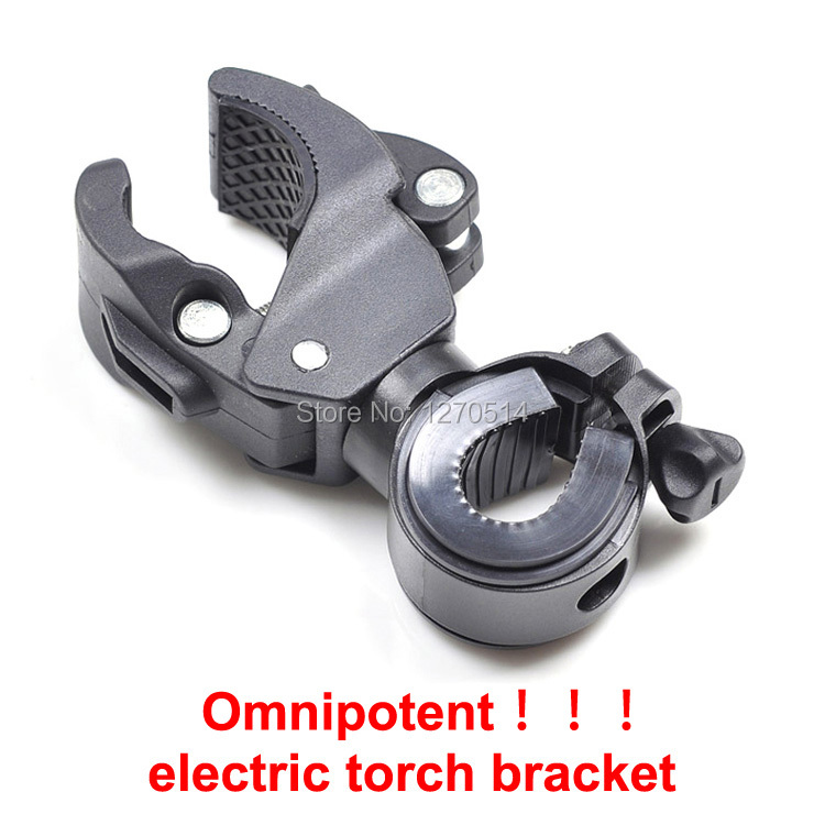 1piece , Latest Omnipotent Plastic Bike LED Flashlight Torch Bracket Holder Mount Front Light Lamp Clip for Bicycle Cycling