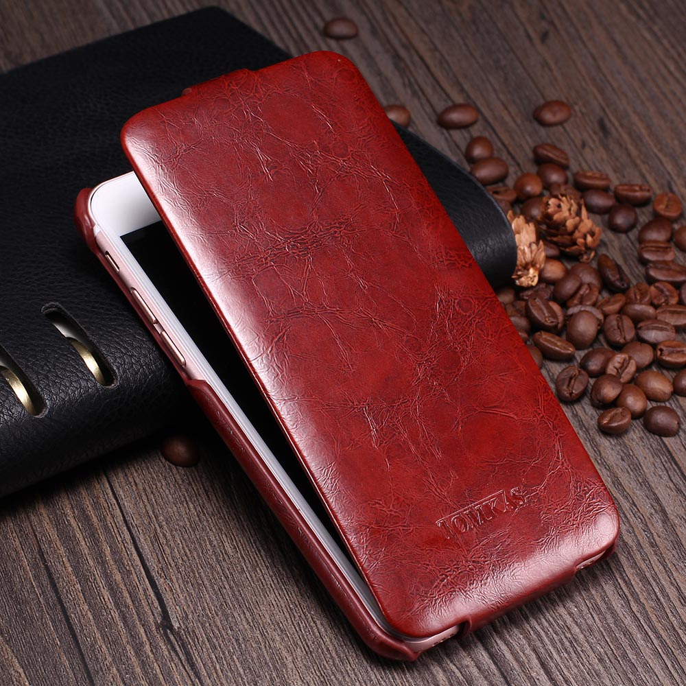 TOMKAS Case For iPhone 7 Coque Original Brand Flip Leather Phone Bag Cover For iPhone 8 Cases Business Vintage Case For iPhone 7