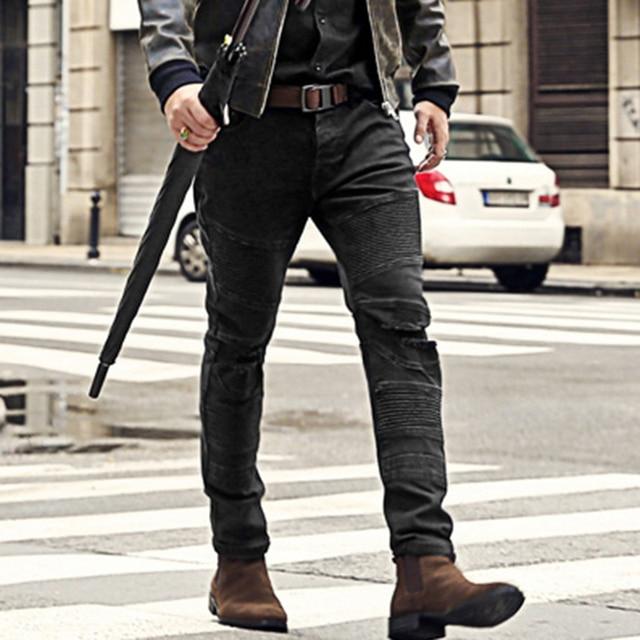 878a9b1224 Men autumn winter embossed black jeans men solid casual cotton new design  high quality slim pants fashion men holes jeans