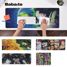 Babaite Top Quality Izuku Midoriya Locking Edge Mouse Pad Game Free Shipping Large Keyboards Mat
