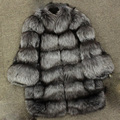 High Quality Real full pelt glossy fox fur coat Jacket For Women Top Fashion Natural Fox Fur wool hair coat