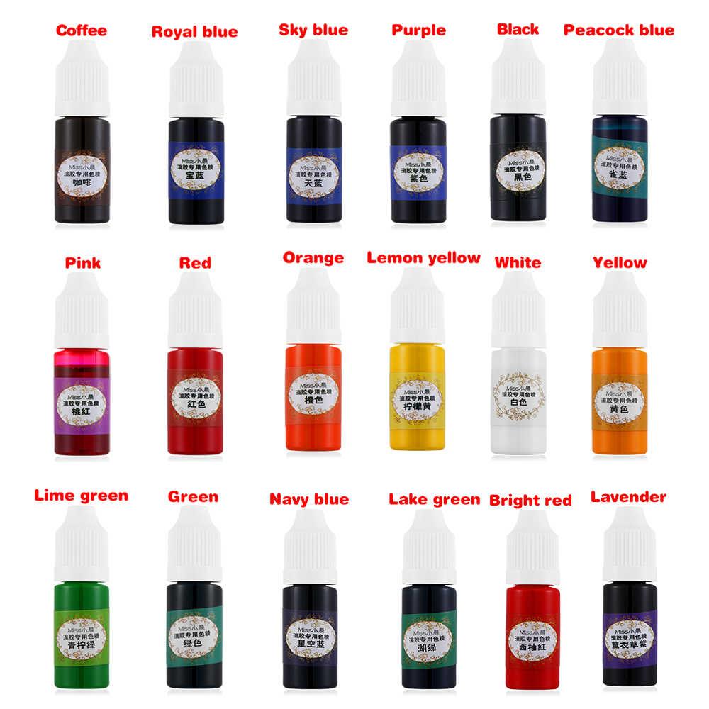 10 мл жидкая смола пигментный краситель УФ смола эпоксидная смола Сделай Сам Изготовление ювелирных изделий Аксессуары 24 цвета