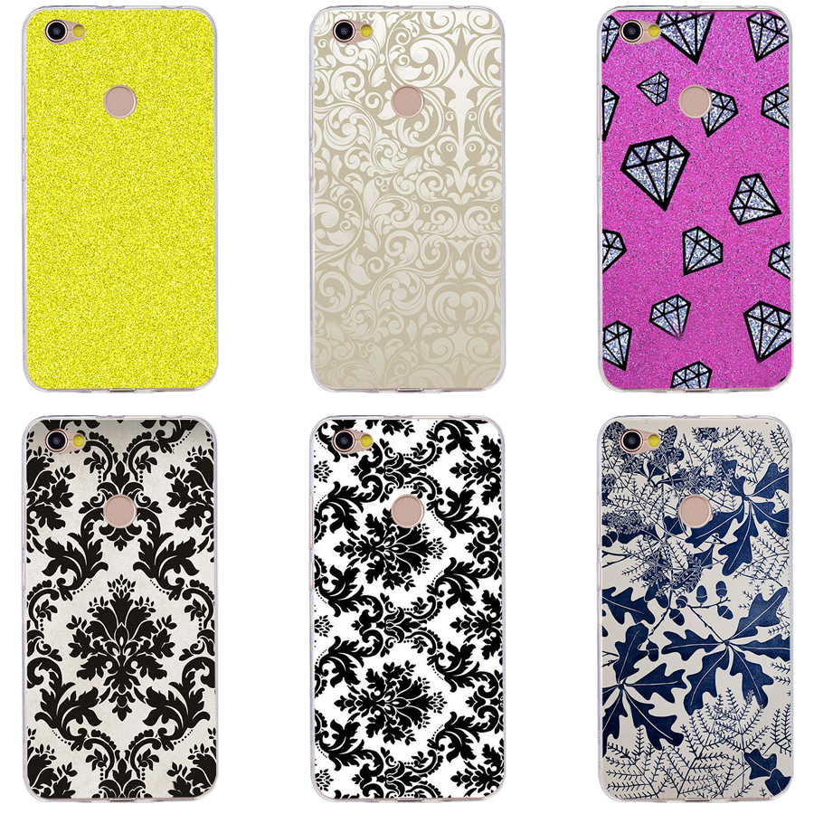 Us 105 23 Off89h Black And White Flower Wallpaper Silicone Soft Tpu Cover Phone Case For Xiaomi Redmi 4a 6a 4x Note 5a Pro Mi A1 In Half Wrapped