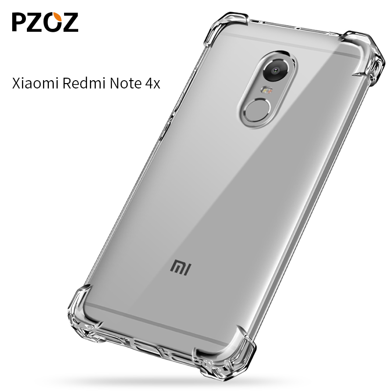 huge selection of 8d5be 396c8 US $3.04 39% OFF|PZOZ redmi note 4x case silicone luxury Anti knock xiaomi  redmi note4x Cover Transparent Clear Protective xiomi note 4x 3gb 32gb-in  ...