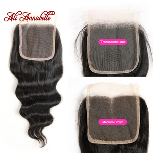 Image 4 - ALI ANNABELL Loose Wave Bundles With Closure Human Hair Bundles With Closure Loose Wave Human Hair With Transparent Lace Closure