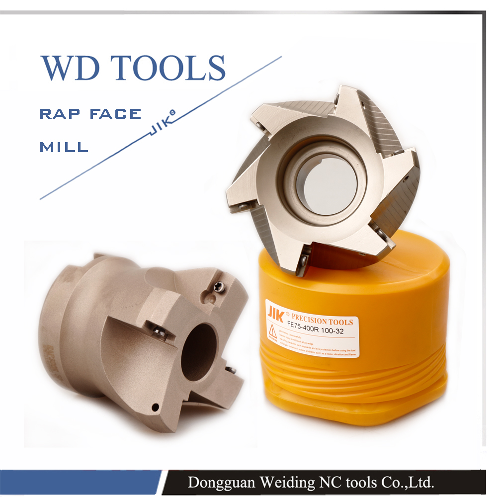 RAP 75 DEGREE FACE MILL CUTTER RAP 400R 100 32 6T CNC RAP FACE MILL in Milling Cutter from Tools
