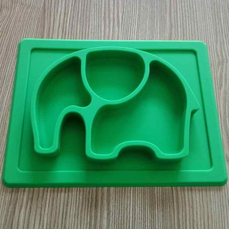 BPA бесплатно Нескользящие Детские Силиконовый поднос слон для детей todller детей, сплошной силиконовый детская тарелка