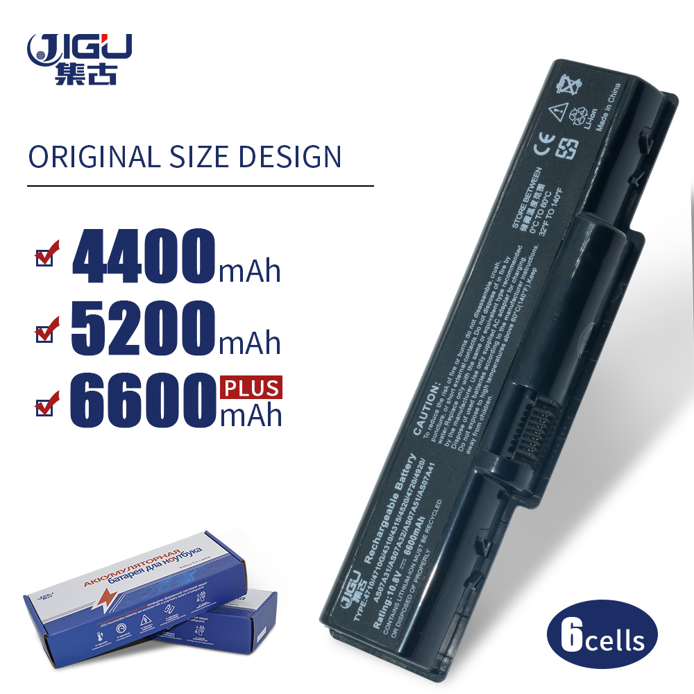 JIGU batería del ordenador portátil para Acer AK.006BT 20 AK.006BT 025 As07a51 AS07A31 AS07A32 AS07A41 S07A51 AS07A52 AS07A71 AS07A72 AS09A61