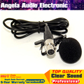 Черный Мини XLR 4 Контактный разъем TA4F 4PIN Разъем Зажим Для Галстука на Нагрудные Петличный Микрофон Микрофон Микрофон Для SHURE Беспроводных Поясной передатчик