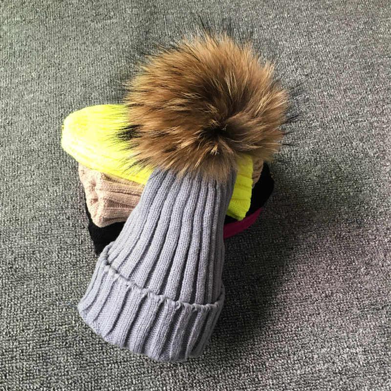ฤดูหนาวหญิงขน Pom pom หมวกหมวกฤดูหนาวหมวกผู้หญิงหมวกถัก Beanies หมวกหมวกผู้หญิงหนา skullies Beanies