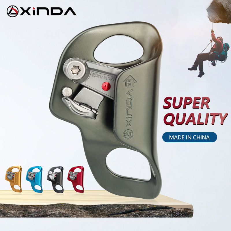 XINDA Outdoor Camping Rock Climbing Chest Ascender Safety Rope Ascending Anti Fall Off Survival foldable trigger