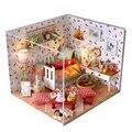 Hecho a mano Muebles de Casa de Muñecas Miniatura Diy Casas de Muñecas casa de Muñecas En Miniatura De Madera Juguetes Para Niños Adultos Regalo de Cumpleaños TW12
