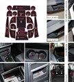 For Volkswagen New Touran 2008-2015 18pcs/set Car anti slip sticker gate pad door carpets Interior cup holder decoration