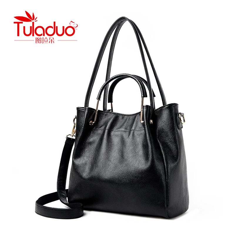 TULADUO Luxury Vintage Shoulder Bag Leisure Metal Portable Designer Handbags High Quality PU Leather Messenge Bag