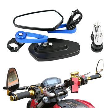 2 sztuk aluminium motocyklowe 7 8 #8222 22mm Bar End Side lusterko wsteczne uniwersalny motocykl kierownica rowerowa lusterka wsteczne uniwersalne tanie i dobre opinie EAFC Motorcycle Aluminum Rear View Mirror Lusterka boczne i akcesoria
