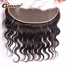 Gossip 13×4 Ear to Ear Lace Frontal Closure With Baby Hair Peruvian Body Wave Non-remy Human Hair Frontal Closure Bleached Knots