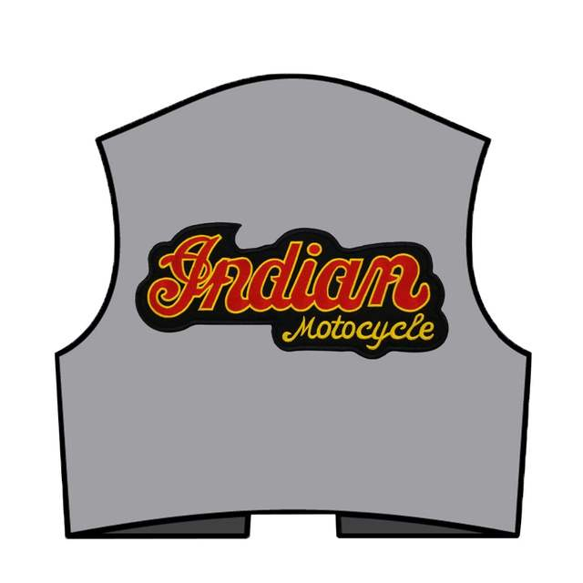 US $7 45 24% OFF|Indian Motorcycle Logo Embroidered Patches Full Chief  Biker Back For MC Vest Jacket Chopper Motor Design-in Patches from Home &