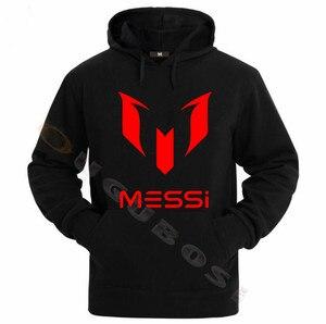 Image 1 - Lionel Messi Calcio Con Cappuccio Unisex Adulto Argentina Barcelona Hoody Gioventù