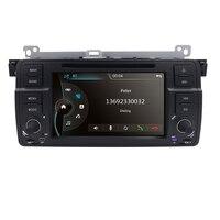 Original UI 7 Car DVD GPS For BMW E46 M3 Monitor GPS Bluetooth Radio RDS USB SD DAB+TPMS BT CD Steering wheel control Free Map