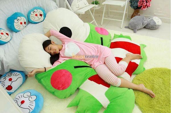 Fancytrader  180cm X 165cm Soft Funny Giant Big eye Frog Bed Carpet Tatami Sofa, FT50317 (5)