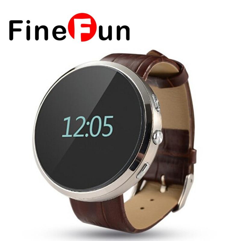 ФОТО FineFun Smartwatch D360 2016 Newest Bluetooth Wristwatch Sync Pedometer Sleep Music Player Watch for 2.1 Android/IOS Smart Phone