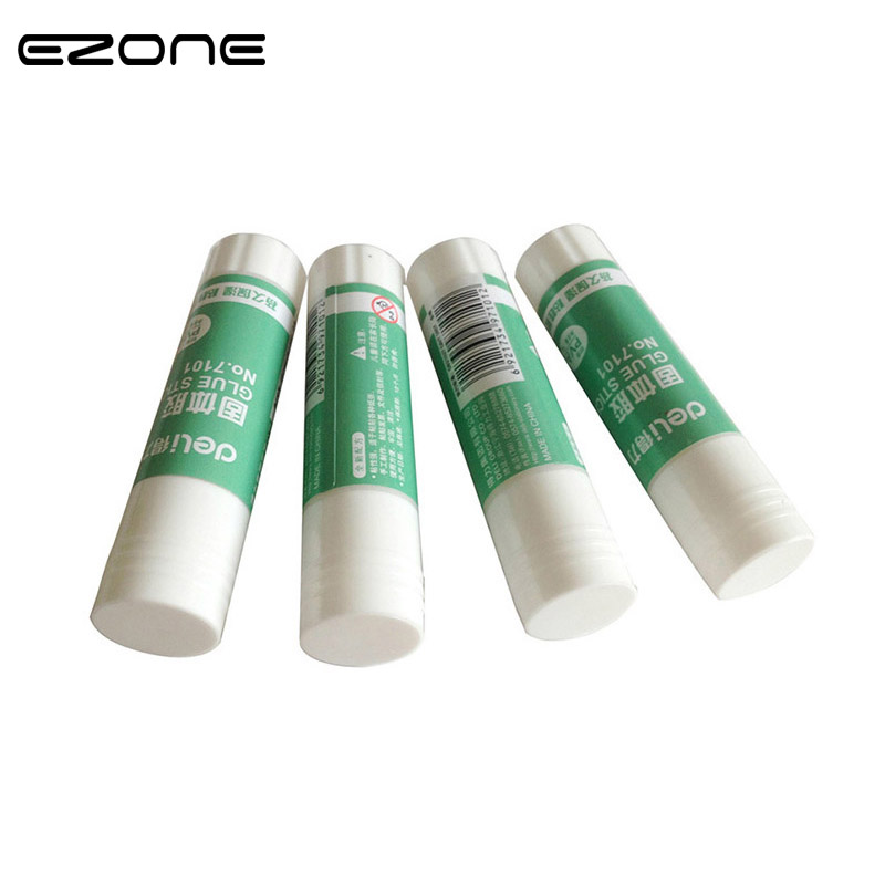 EZONE White Viscosity Solid Glue Stick Simple Adhesive Solid Gum For School Office Supplies Stationery Material Escolar 1PC